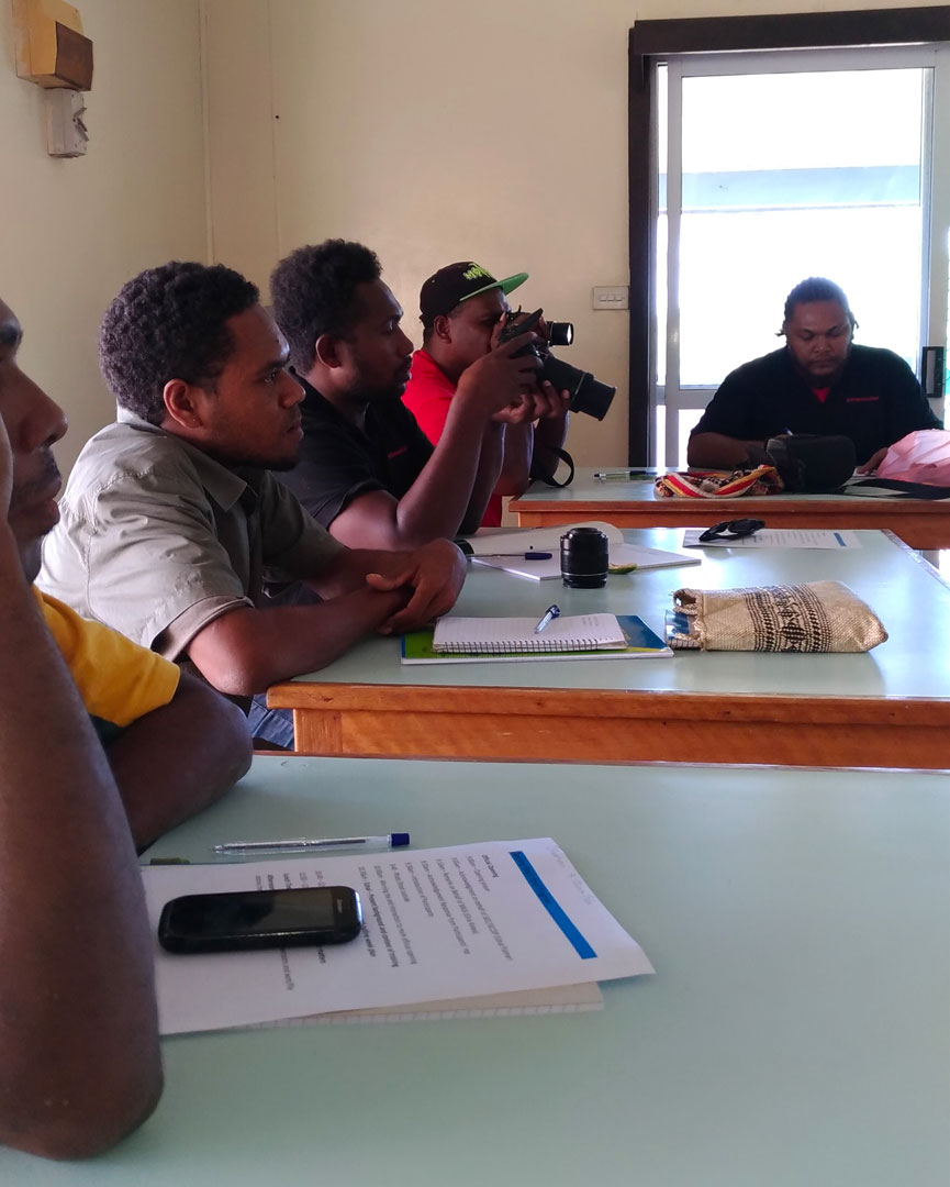 Some of the reporters and Freelancers took part in the Auki, Malaita Election Media Training