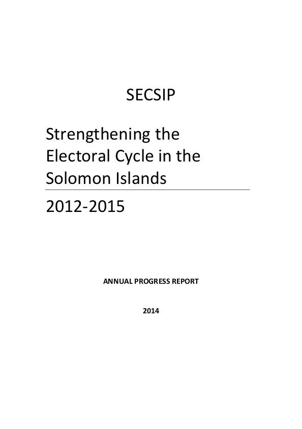 ec undp jtf solomons islands resources secsip annual report 2014